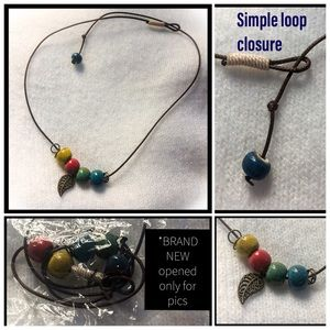 simple colorful beaded necklace